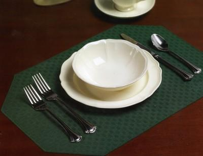 Lattice Reversible Solid Color Placemats with Mitered Corners 2 Dz.