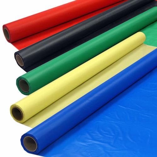 "Solid Color Heavy-Duty Plastic Banquet Roll - 54"" X 150'"
