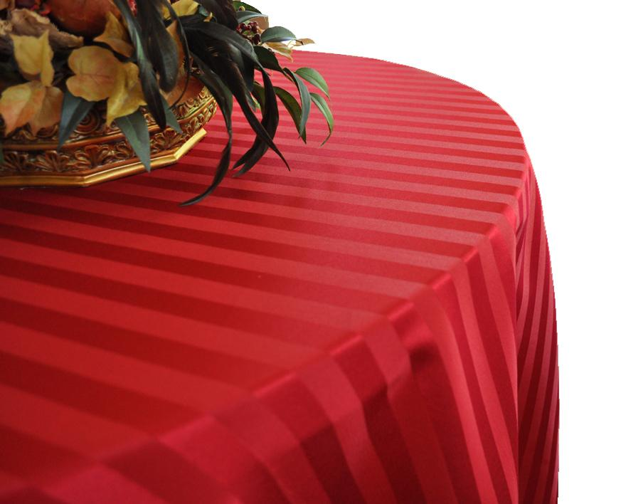 Polyester Stripe Linen Tablecloth 1 Dz pack