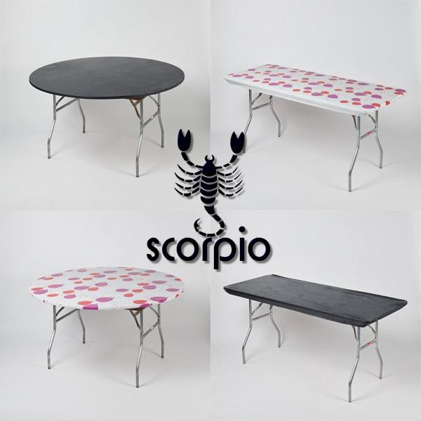 Scorpio Birthday Celebration Fitted Plastic Table Cover Pack