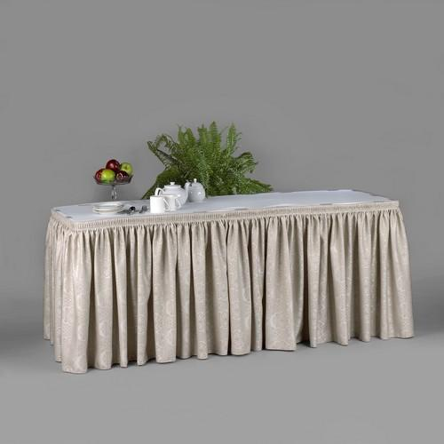 Bengaline Moire Linen Table Skirts Pack Of 2