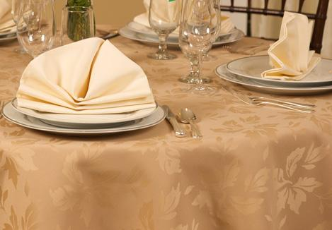 Symphony  Spun Poly Linen Tablecloth 1 Dz.