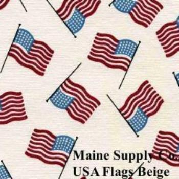 Restaurant Quality USA Flag Vinyl Tablecloth Roll w/ Flannel Backing