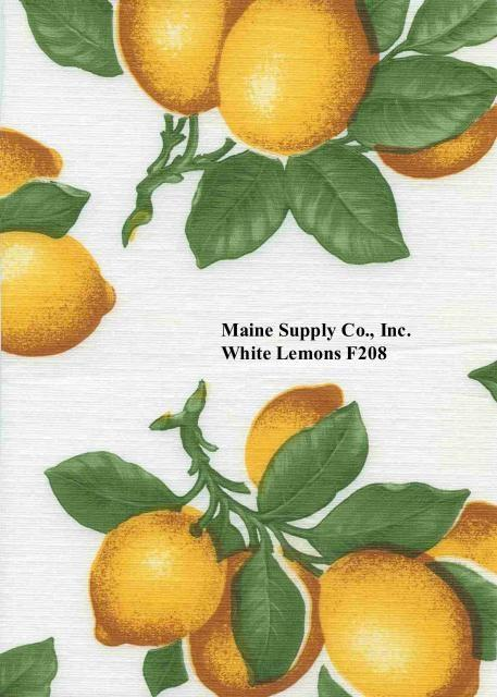 Restaurant Quality Lemon Pattern Vinyl Tablecloth Roll, F0208