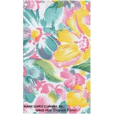 Restaurant Quality Tropical Floral Vinyl Tablecloth Roll, F0226
