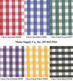 Restaurant Quality Chess Check Vinyl Tablecloth Roll w/ Flannel Back