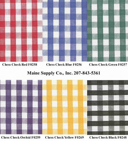 Chess Check Restaurant Quality Vinyl Tablecloth Roll w/ Flannel Back, 15 Yards