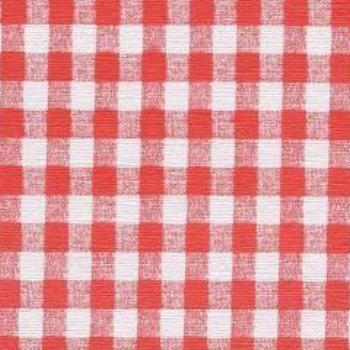 Restaurant Quality Gingham Check Vinyl Tablecloth Roll w/ Flannel Back