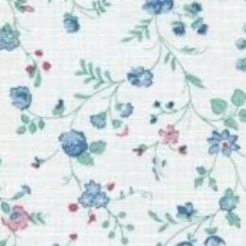 Economy Floral Print Vinyl Roll w/ Flannel Backing, 15 Yards, 4 Gauge