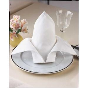 Parnell Satin Band White Linen Tablecloth 1 Dz.