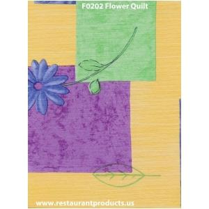 Restaurant Quality Flower Quilt Design Vinyl Tablecloth Roll, F0202