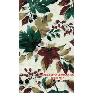 Restaurant quality Vinyl Tablecloth Roll w/ Falling Leaves Print, F0217
