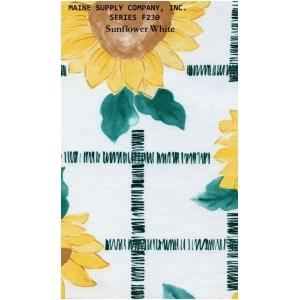 Restaurant Quality Sunflower Design Vinyl Tablecloth Roll, F0230