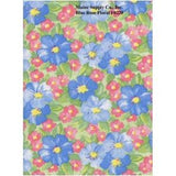 Restaurant Quality Blue Rose Vinyl Tablecloth Roll, F0220
