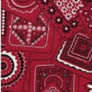 Restaurant Quality Bandana Red Vinyl Tablecloth Roll w/ Flannel Backing