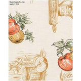 Restaurant Quality Apples Print Vinyl TableclothRoll w/ Flannel Backing, F0234