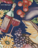 Premium Vinyl Tablecloth w/ Flannel Backing, Fruits & Vegetables Series, 3 Styles, S6101