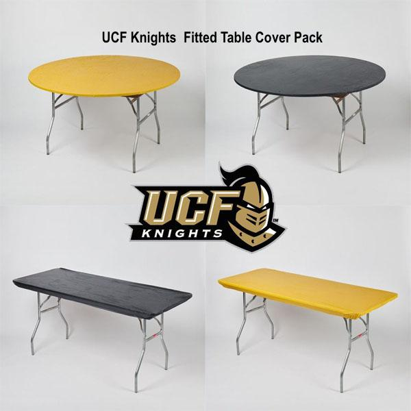 UCF Knights Plastic Fitted Table Covers Pack