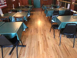 Hunter Green Vinyl Tablecloths at JJ Pub and Grill in NJ