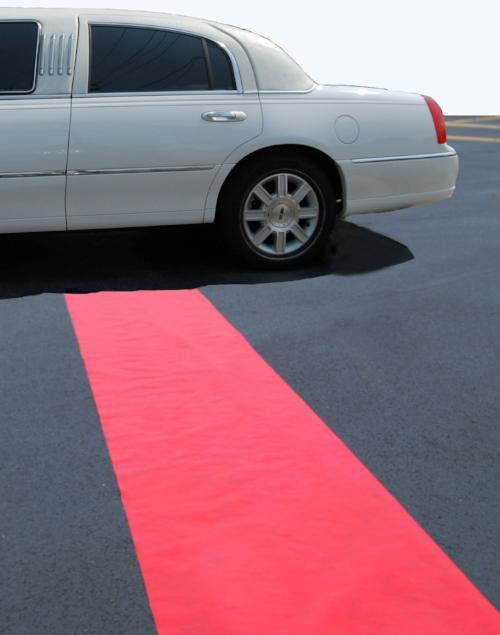 Solid Color Plastic Aisle Runner with Pull Chord