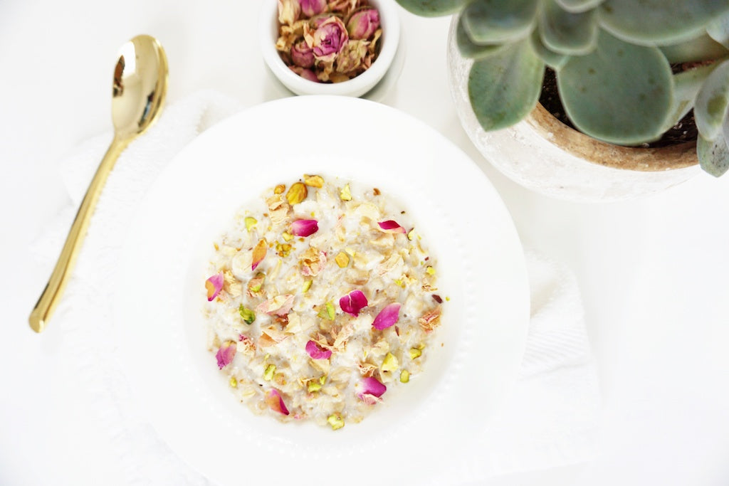 Saffron and Rose Oats