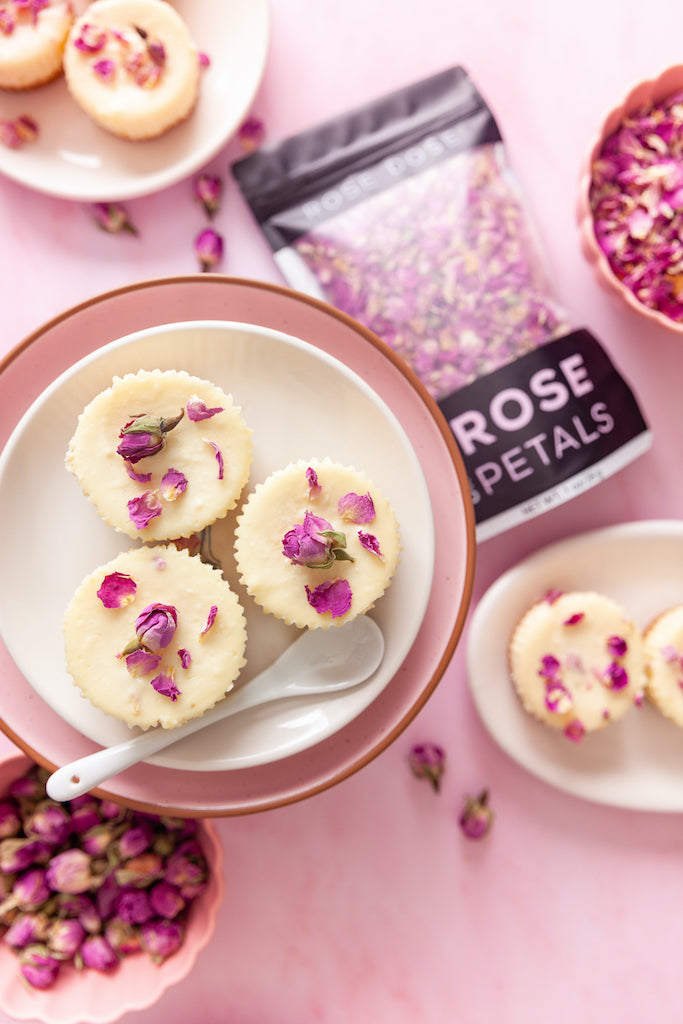 Rose Mini Cheesecakes