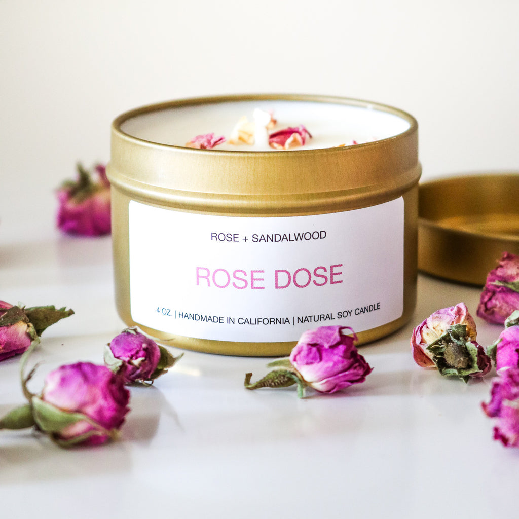 Rose + Sandalwood Candle 4 oz