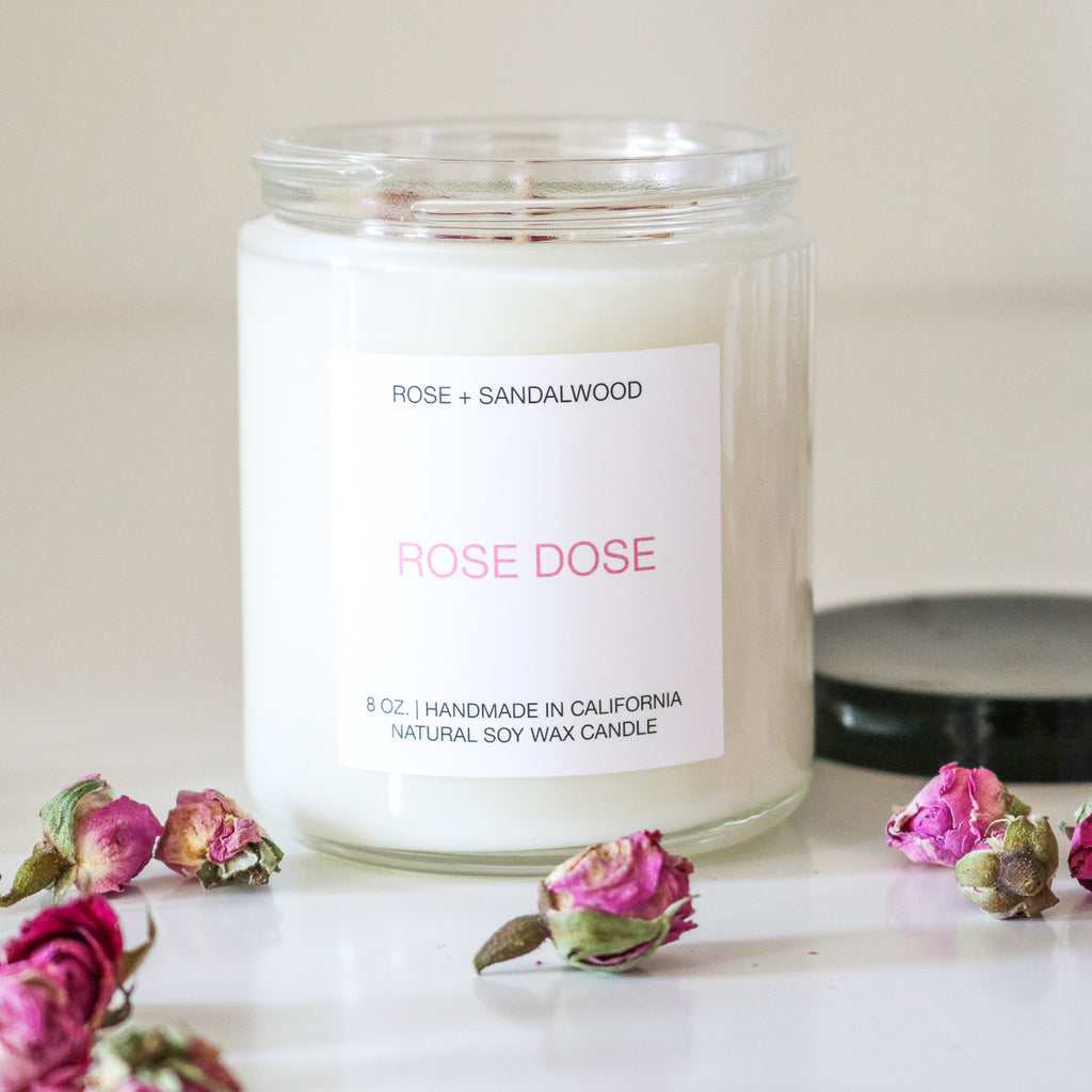 Rose + Sandalwood Candle 8 oz