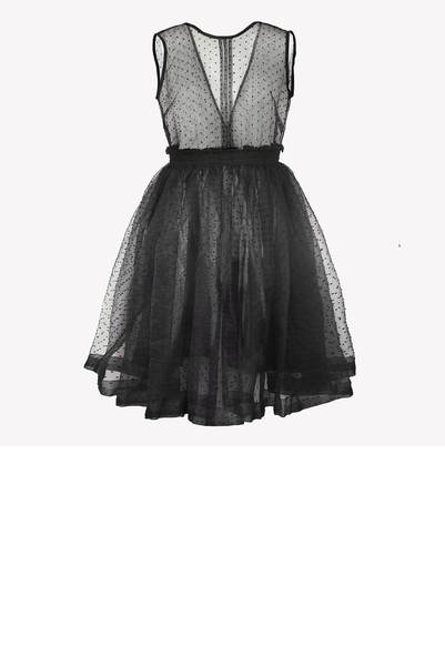 Sheer organza dress