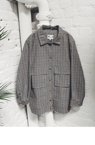 Check Utility Suit Jacket