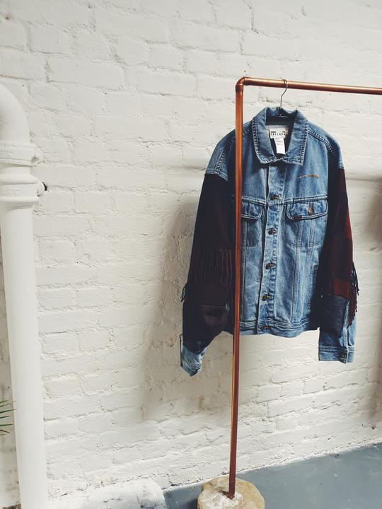 Upcycled Denim Wool Jacket