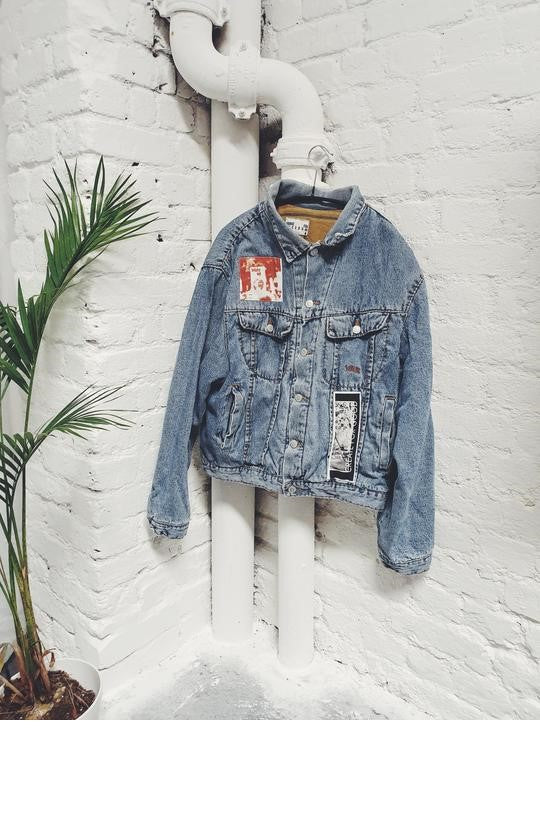 Upcycled Denim Patch Jacket