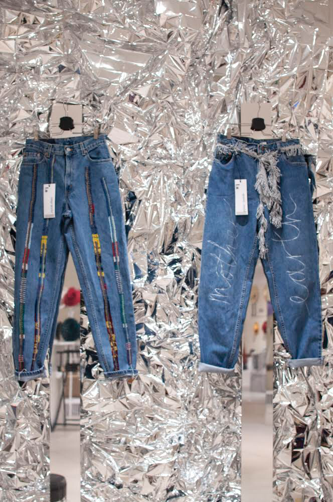 High Wasted Upcycled Wool Jeans