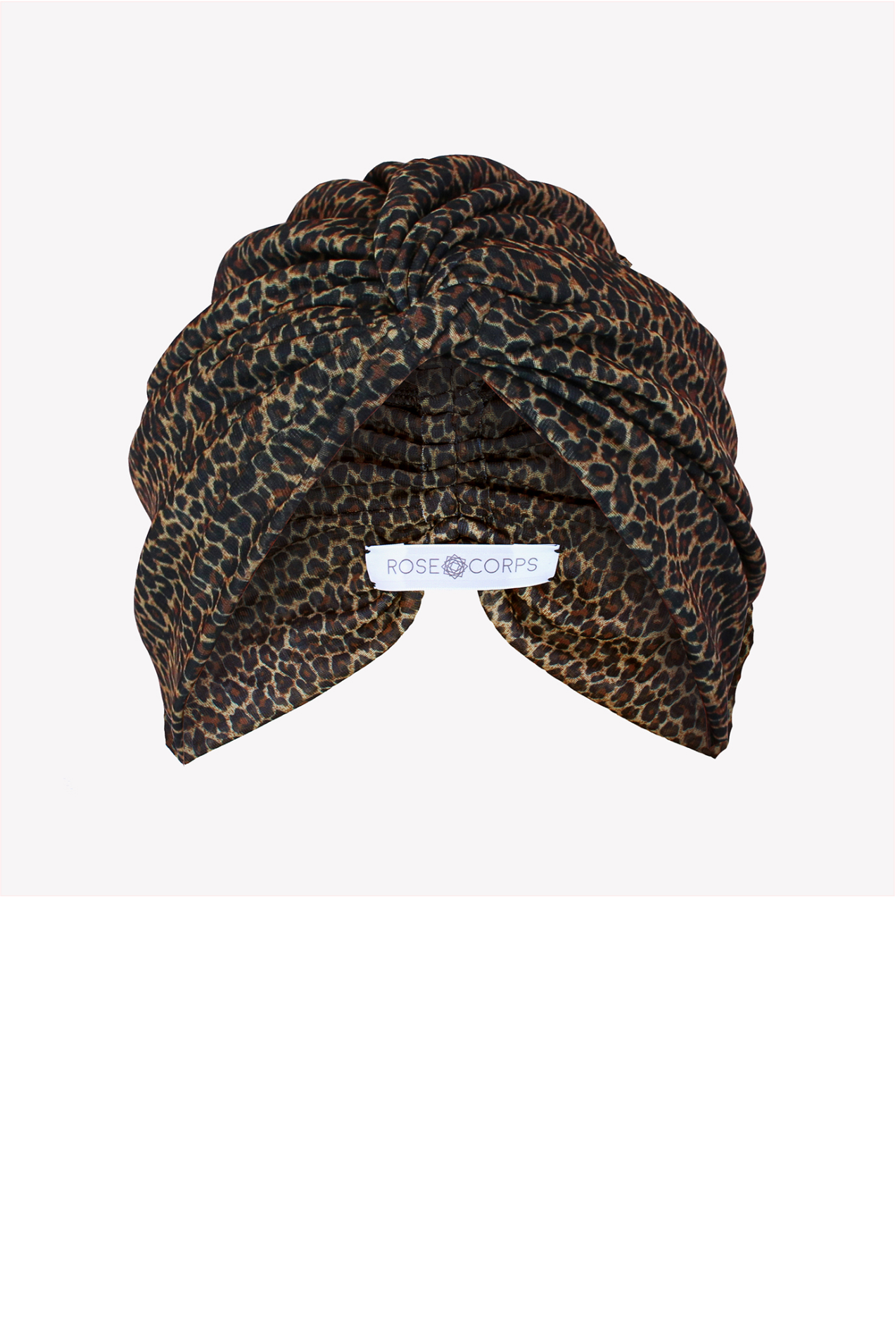Classic leopard turban with twist