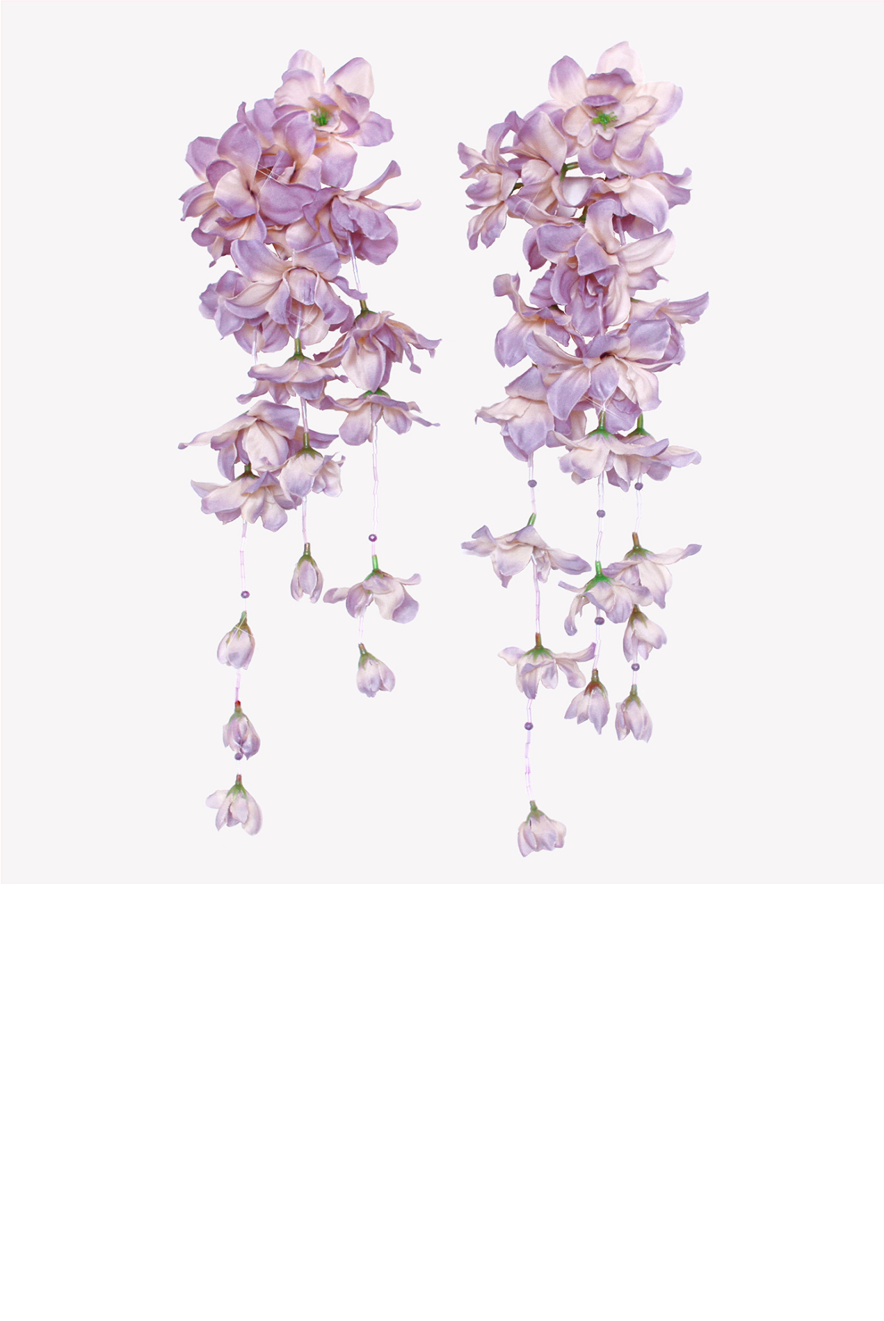 Drop floral earrings with artificial flowers