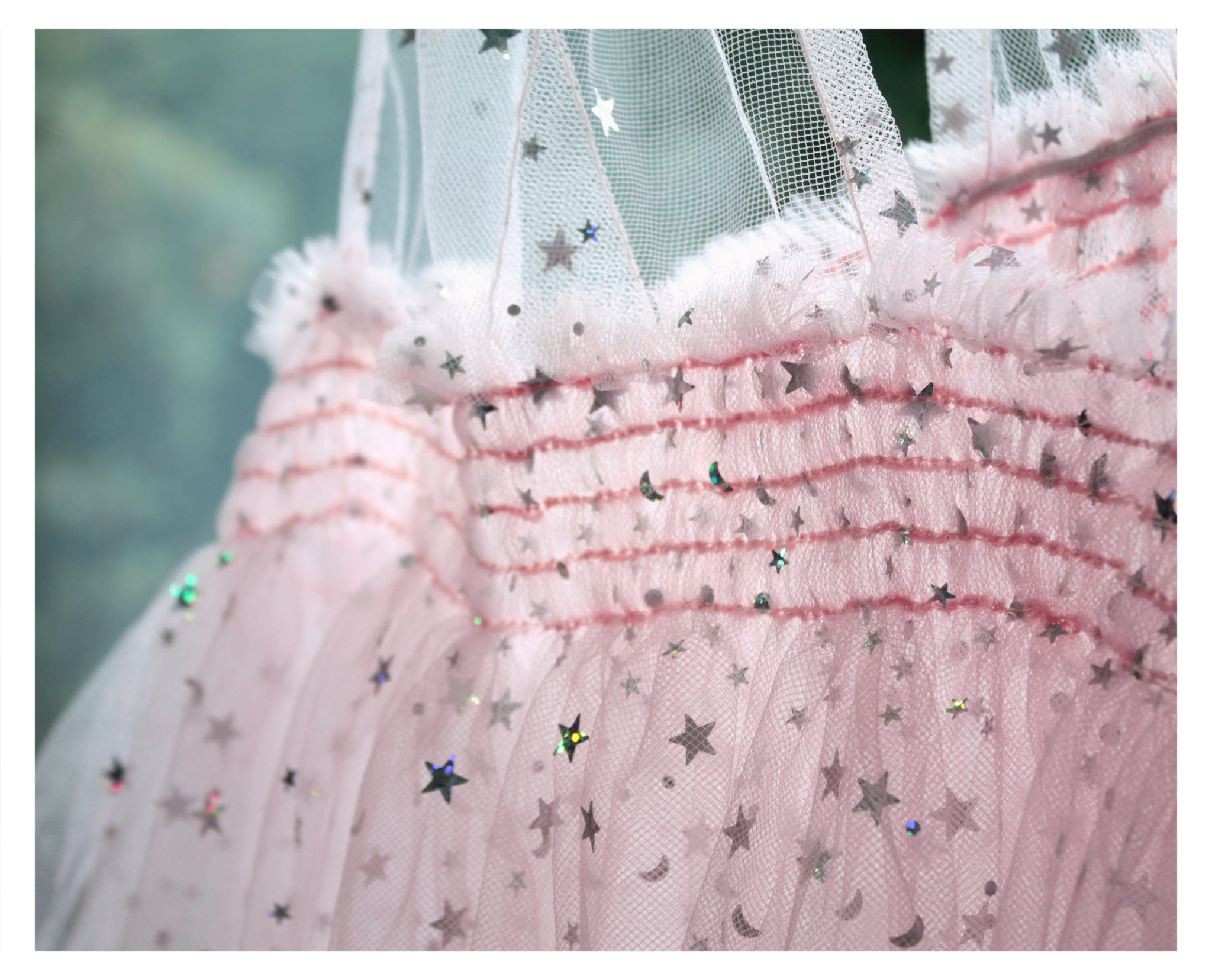 Tulle Baby Doll Overdress With Stars