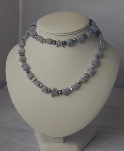 Slices of blue necklace