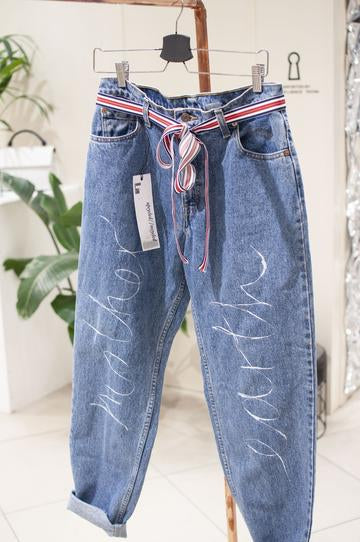 High Wasted Upcycled Mother Earth Jeans