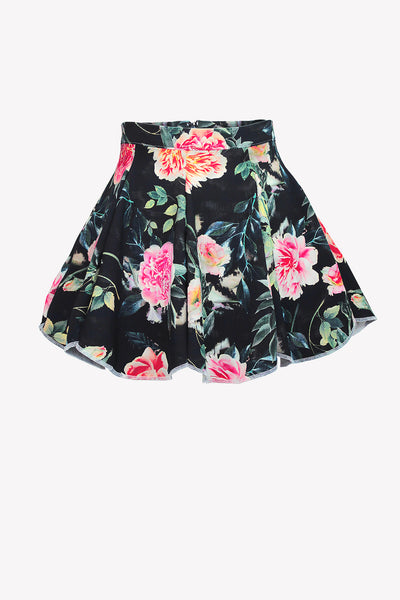 High waisted floral skirt