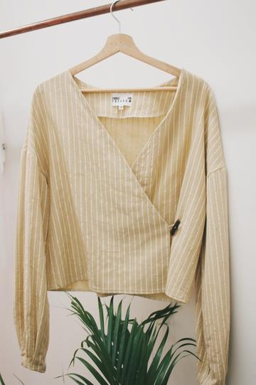 Stripe Reversible Top, Burnt Yellow