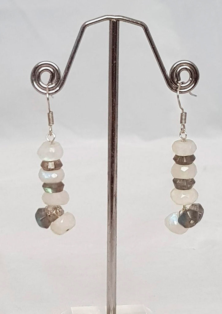 Ice & northern lights saucers Earrings