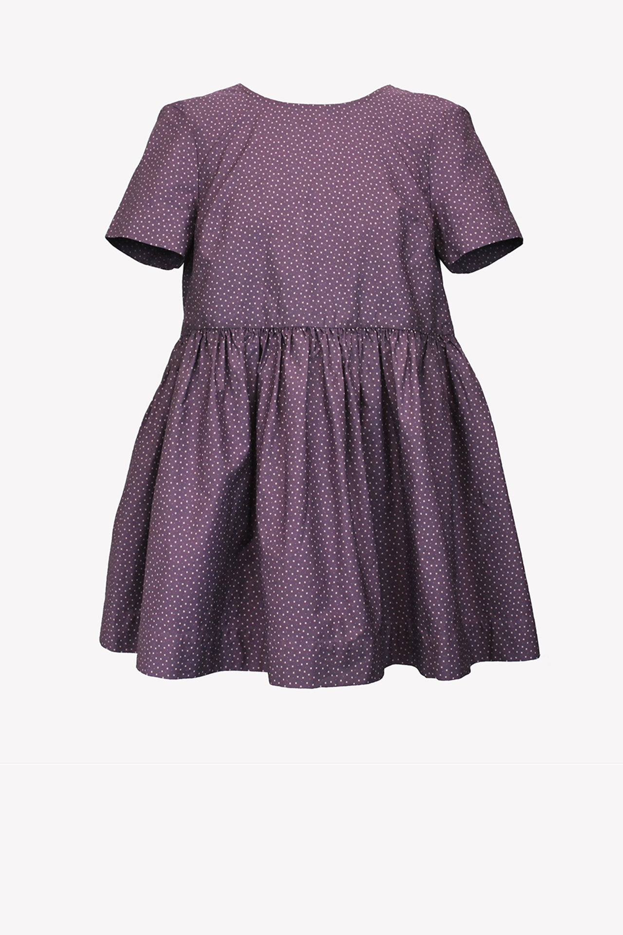 Loose cotton dress with wooden buttons
