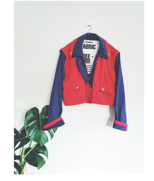 Upcycled Red & Navy Jacket