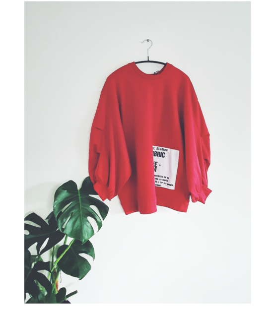 Organic Patch Jumper, Red