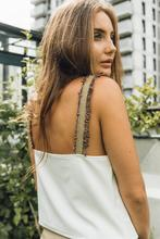 Recycled Strap Top, White