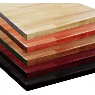 Restaurant Table Tops - Solid Wood, Veneer, Laminate