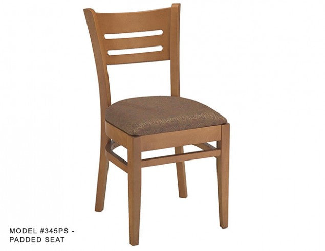 Heavy Duty Horizontal Slat Back Side Chair, MD345