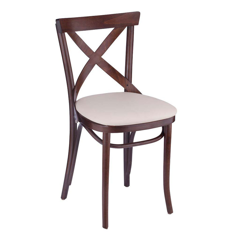 Bent Cross Back Bentwood Side Chair