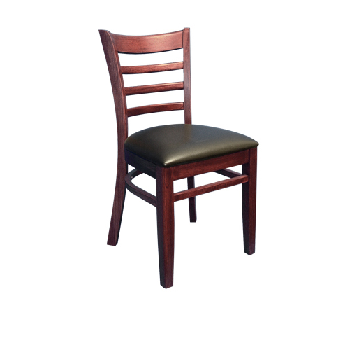 Beechwood Ladder Back Vinyl Seat Chair, ERF-B1100-VNL