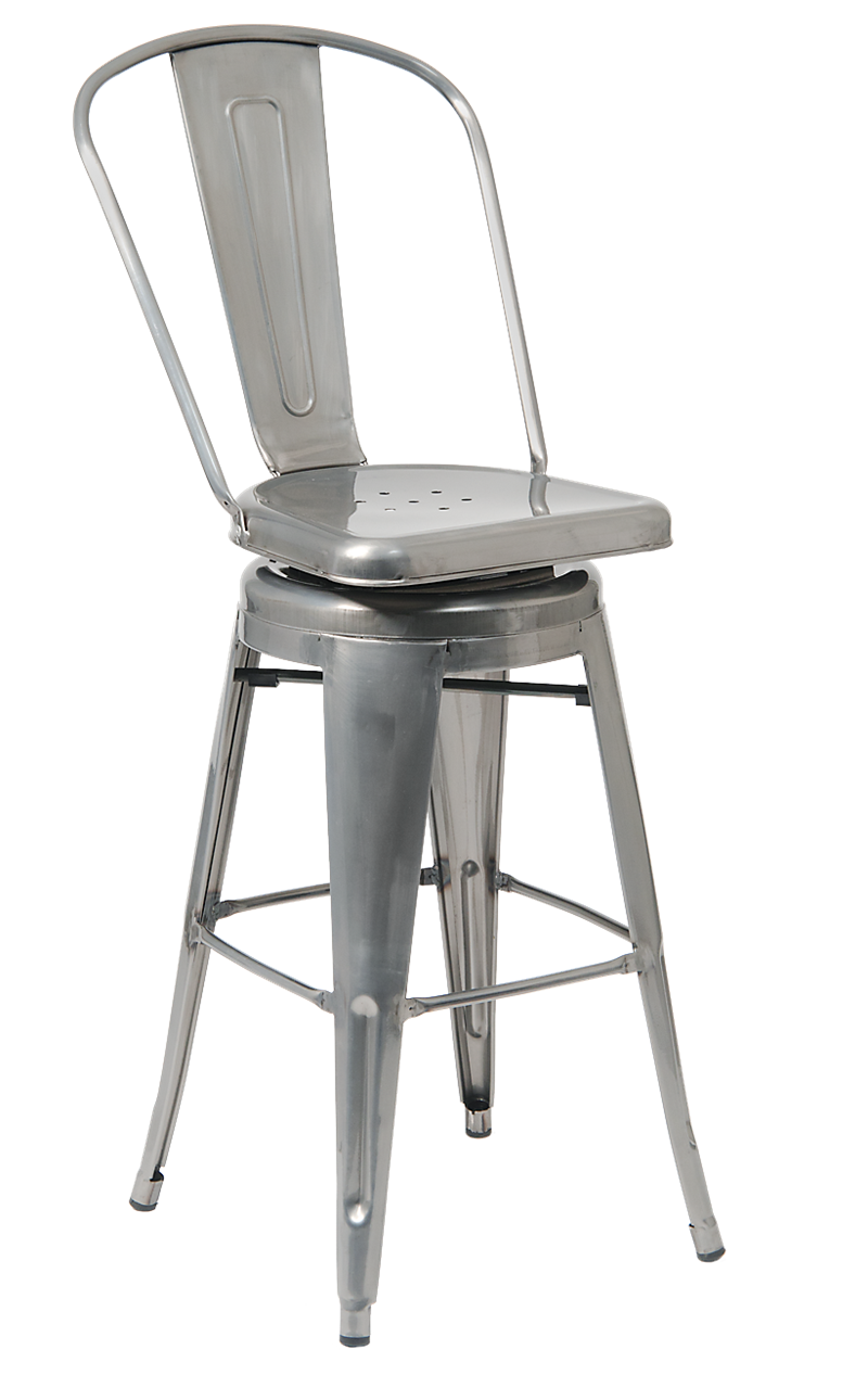 Clear Coat Finish Steel Barstool, ERF-11C-BS/BSS